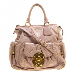 Miu Miu Pink Leather Shoulder Bag 6bf7e04f05f9a