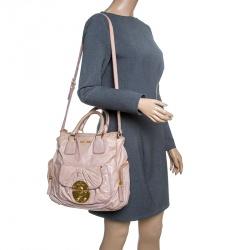 Miu Miu Pink Leather Shoulder Bag 0cc1c05ce24d5