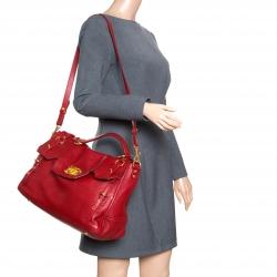 Miu Miu Red Leather East West Top Handle Shoulder Bag 2b11fb0c56e0e
