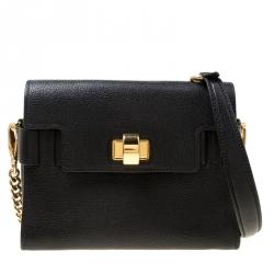 d1c4a37138b Miu Miu Black Madras Leather Click Shoulder Bag