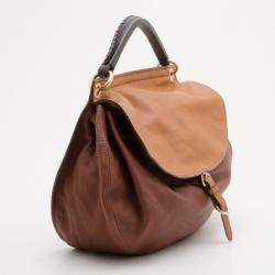 Miu Miu Brown Nappa Leather Hobo Bag