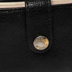 Miu Miu Black Leather Accordion Card Case