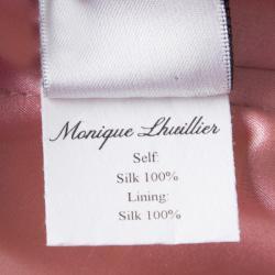 Monique Lhuillier Colorblock  Strapless Silk Gown S