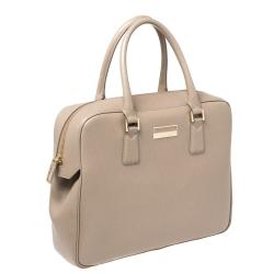 Montblanc Beige Leather Sartorial Briefcase