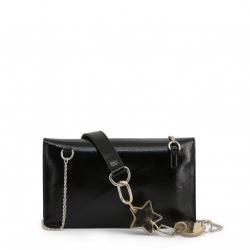 Love Moschino Black Faux Shiny Leather Crossbody Bag