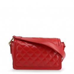 Love Moschino Red Quilted Faux Leather Crossbody Bag