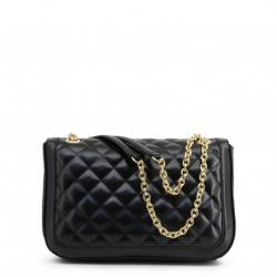 Love Moschino Black Quilted Faux Leather Chain Shoulder Bag