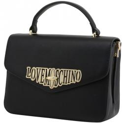 Love Moschino Black Faux Leather Top Handle Bag
