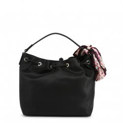 Love Moschino Black Faux Leather Scarf Shoulder Bag