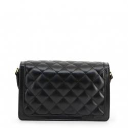 Love Moschino Black Quilted Faux Leather Crossbody Bag
