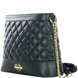 4c04540e5b9 Love Moschino Green Quilted Faux Leather Chain Crossbody Bag. Moschino. Shoulder  Bags