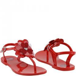 bb1a8c08551 Buy Dior Floresent Orange Patent Leather Lagoon Flat Thong Sandals ...