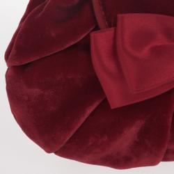 Moschino Satin Bow Red Velvet Clutch