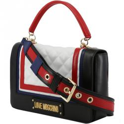 Love Moschino Multicolor Quilted Faux Leather Top Handle Bag