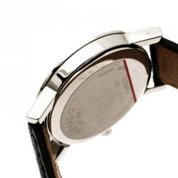 Movado Black Stainless Steel Museum 84 A1 1837 Women's Wristwatch 24 mm
