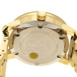 Movado Crackle Gold Tone Stainless Steel Bold Women's Wristwatch 36 mm