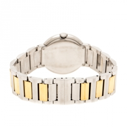 Movado White Mother of Pearl Two-Tone Stainless Steel Diamond Concerto 23.3.14.1117S Women's Wristwatch 30 mm