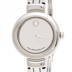 Movado Silver Stainless Steel Harmony 84.A1.809.A Women's Wristwatch 23 mm