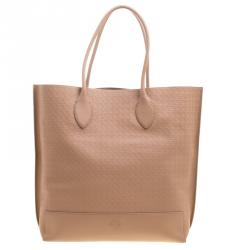 ec15f6a065 Sold. Mulberry Beige Woven Embossed Leather Blossom Shopper Tote