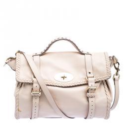 24312aba2b0d Mulberry Beige Leather Oversized Alexa Satchel