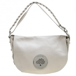 3807eb17d5 Sold. Mulberry Cream Leather Daria Hobo