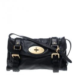 2f53ebb889 Mulberry Black Leather Alexa Shoulder Bag