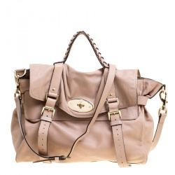Buy Mulberry Brown Python Embossed Leather Oversized Alexa Satchel ... a9898420fbfda