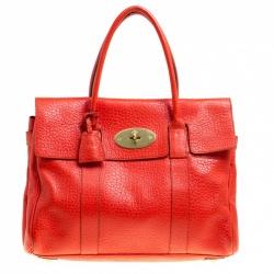 Mulberry Orange Leather Bayswater Satchel fd86aff46eb60