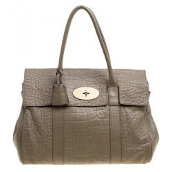 ab630045e5d Mulberry Khaki Brown Leather Bayswater Satchel