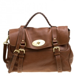 f815adfdbb Mulberry Brown Leather Oversized Alexa Top Handle Bag