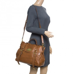 Mulberry Brown Leather Oversized Alexa Top Handle Bag c44cd016a830a