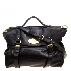 a15941b1be Buy Mulberry Brown Leather Oversized Alexa Top Handle Bag 155837 at ...