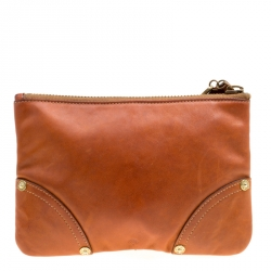 c3042c5343 Mulberry Copper Leather Wristlet Clutch