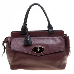 9b497e19763b Mulberry Burgundy Leather Small Blenheim Tote