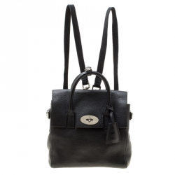 a9e707a26d Mulberry Black Leather Mini Cara Delevingne Backpack Tote