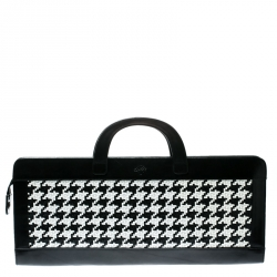 6ed03174db5 Mulberry Black White Woven Leather Tote