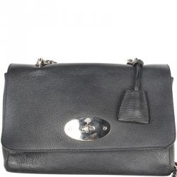 cd451f52d0 Mulberry Black Leather Chain Clutch Bag