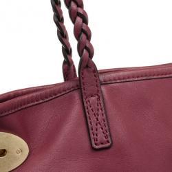 Mulberry Maroon Leather Medium Dorset Tote