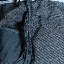N21 Indigo Denim Asymmetric Pleated Mini Skirt M