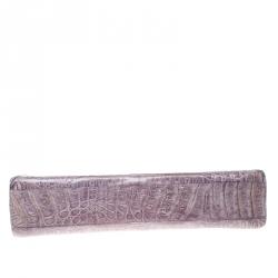 Nancy Gonzalez Purple Crocodile Clutch