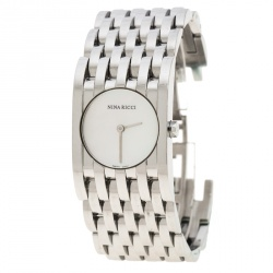 6761a29ccf2a3 Nina Ricci White Mother of Pearl Stainless Steel N000113 Women s Wristwatch  25 mm