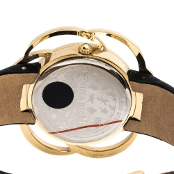 Nina Ricci Mother of Pearl Gold Tone Stainless Steel Flower NO63004SM Women's Wristwatch 38 mm