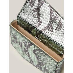 Okhtein Animal Snake-Print Leather Belt Bag