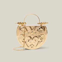 Okhtein Gold Gold-Plated Brass Minaudière Bag