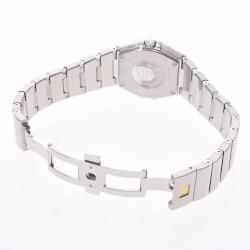 Omega Silver Stainless Steel Constellation 123.10 Women's Wristwatch 26 MM