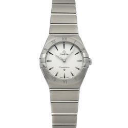 Omega Silver Stainless Steel Constellation Manhattan 131.10.28.60.02.001 Women's Wristwatch 28 MM