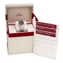 Omega Brown 18K Rose Gold Stainless Steel Diamond Constellation 123.20.27.60.63.001 Women's Wristwatch 27 mm