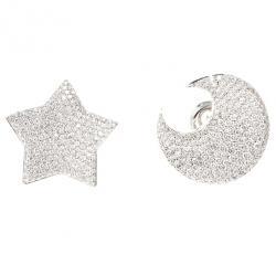 Pasquale Bruni Moon and Star Diamond Earrings