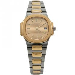 Patek Philippe Gold Index Dial Steel & Yellow Gold Nautilus Women's Watch 29MM