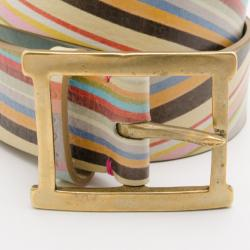 Paul Smith Multicolour Swirl Print Belt